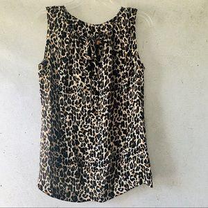 Tory Burch • Silk Leopard Print Blouse